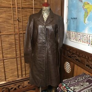 Jackets & Blazers - Vintage United Colors of Benetton leather coat